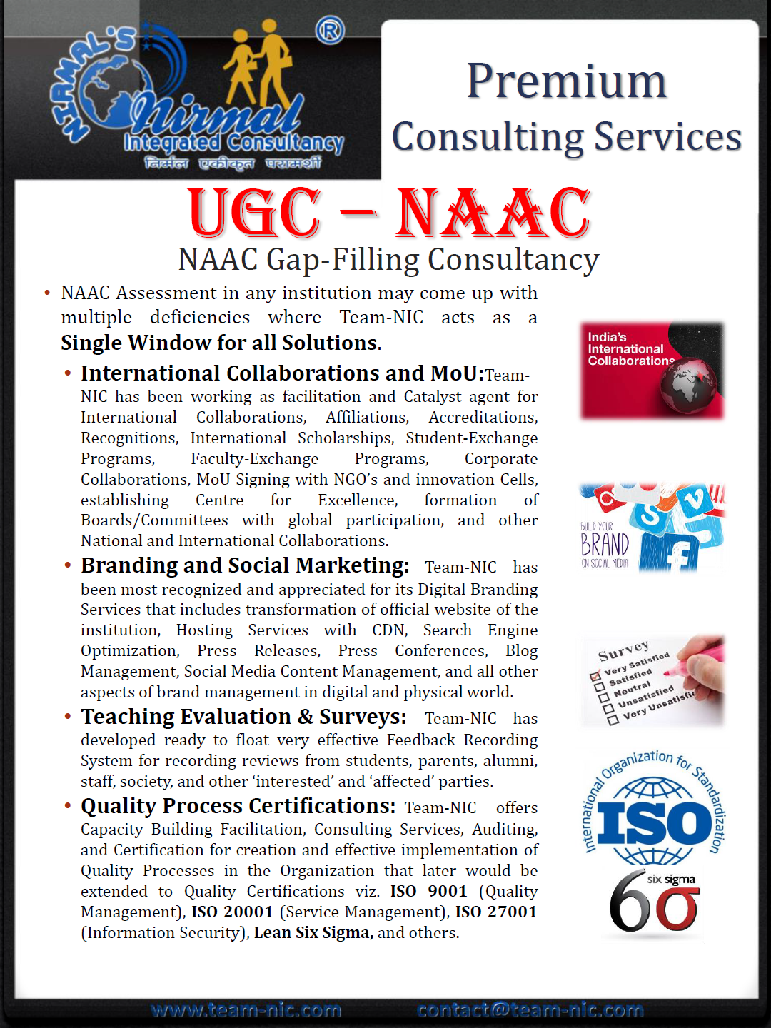NAAC Consultancy Service - Gap Filling Support